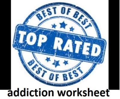 addiction worksheet